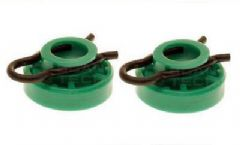 Volvo 850, S70, V70, V70XC Green Window Regulator Rollers / Sliding Block (Pair x2)